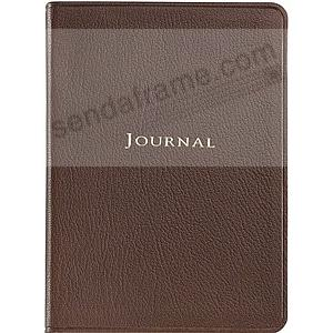 BRIGHTS MOCHA Fine Leather 7inch Medium Travel Journal by Graphic Image™