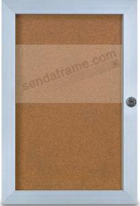 Locking ELEVATOR BOARD FRAME 1in depth in anodized satin Aluminum 14x20