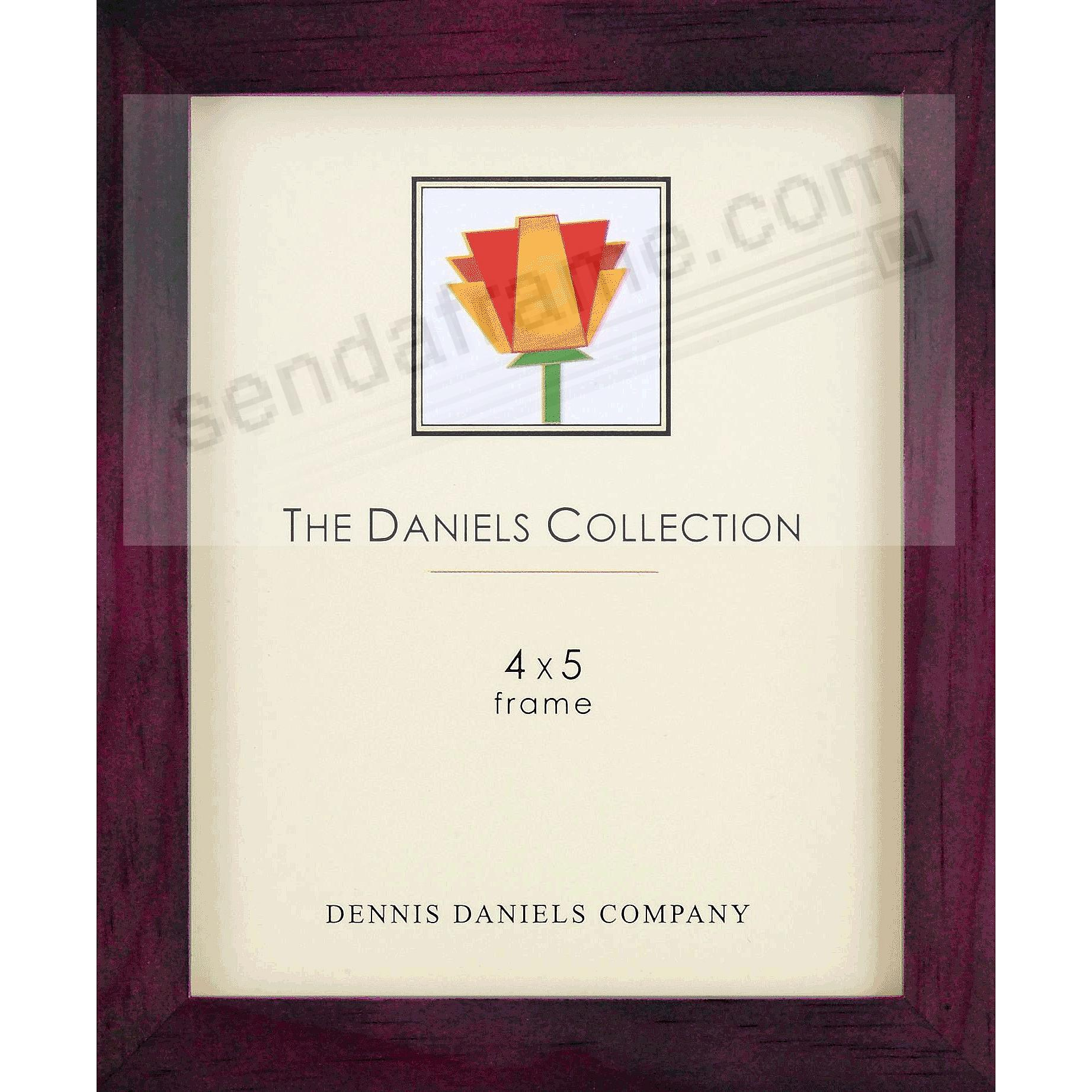 The Original DANIELS W41: Square Corner ESSENTIALS 4x5 classic dark walnut-brown by Dennis Daniels®