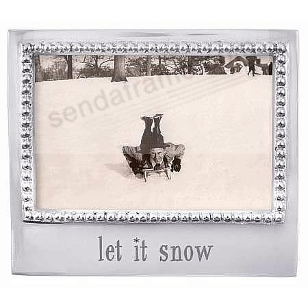 The original LET IT SNOW Statement frame for 4x6 prints crafted by Mariposa®