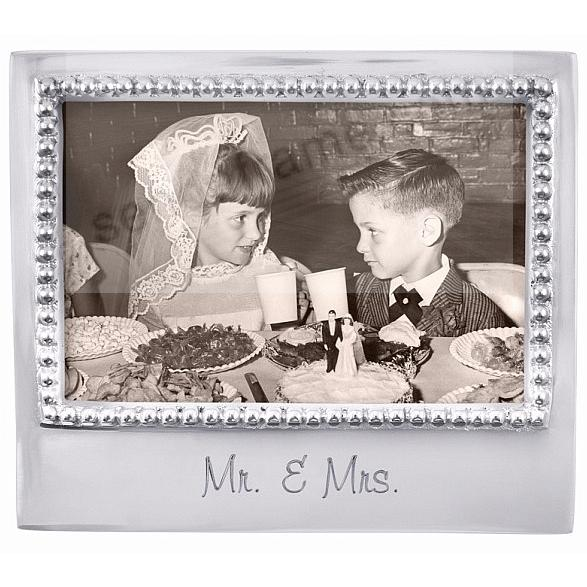 The original MR + MRS Statement frame crafted by Mariposa®