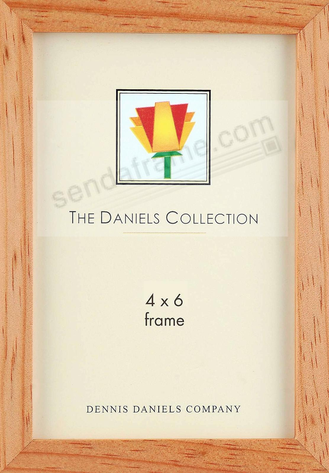 The Original DANIELS W41: Classic Square Corner GALLERY WOODS 4x6 natural-stain wood by Dennis Daniels®