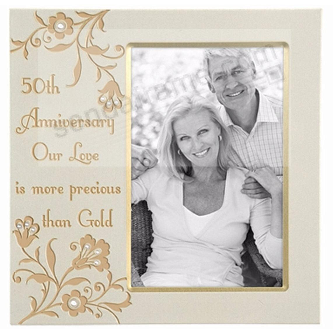 50th anniversary 2 tone gold with jewels by malden picture frames