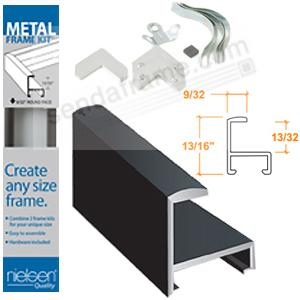 Nielsen METAL FRAMEKIT® PROFILE #11 in Matte-Black 16-inch section