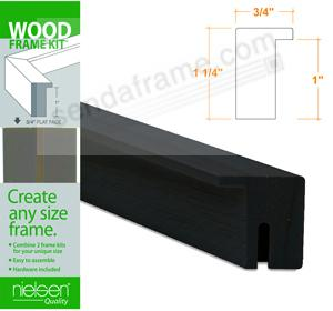 Nielsen FRAMEKIT® AYOUS BLACK Wood Flat-top 33inch section