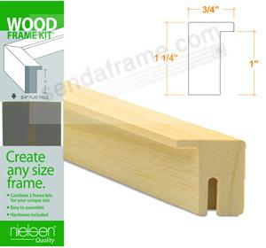 Nielsen FRAMEKIT® AYOUS NATURAL-Blonde Wood Flat-top 12inch section