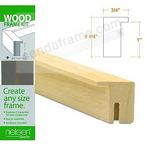 Nielsen FRAMEKIT® AYOUS NATURAL-Blonde Wood Flat-top 16inch section