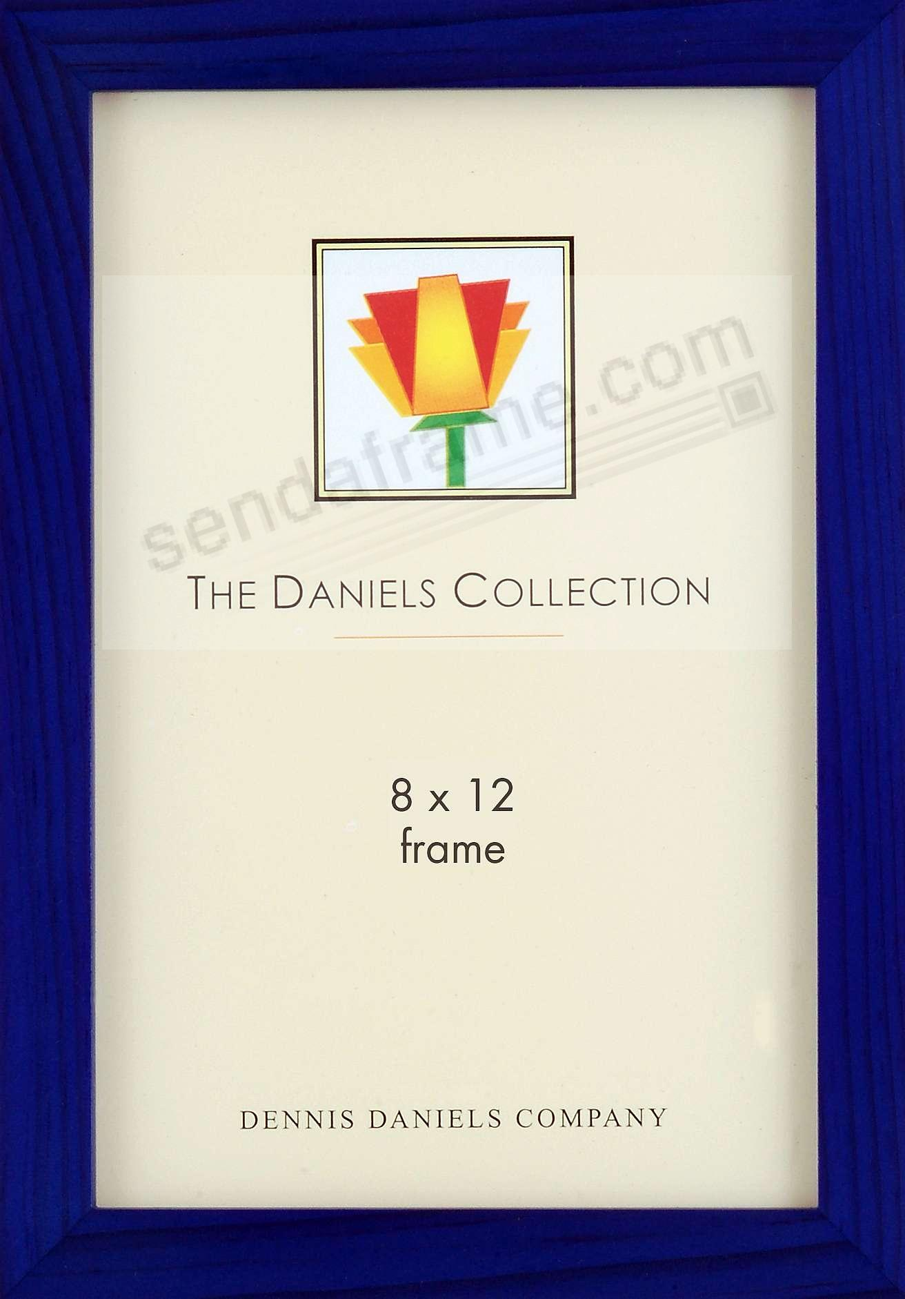 The Original DANIELS W41: Square Corner GALLERY WOODS blue-stain finish 8x12 frame by Dennis Daniels®