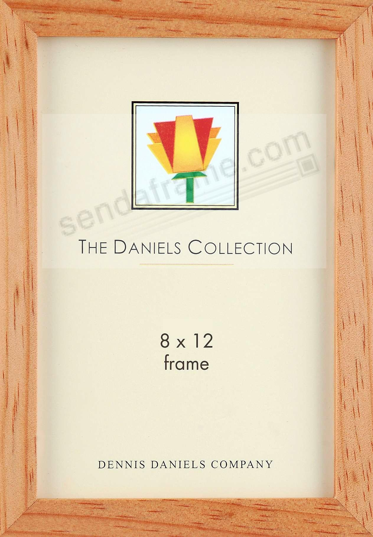 The Original DANIELS W41: Square Corner GALLERY WOODS natural-stain 8x12 frame by Dennis Daniels®