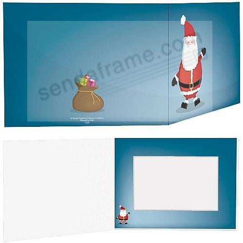JOLLY SANTA Holiday Photo Folder for 6x4 (landscape) prints (sold in 25's)