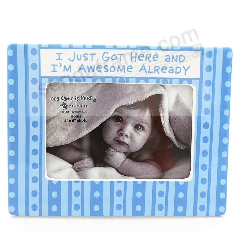 Picture frames photo albums personalized and engraved digital baby blue im awesome frame by our name is mudreg negle Image collections
