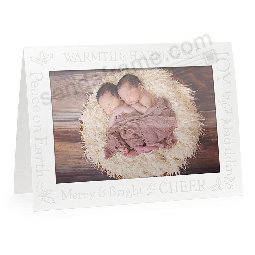 Embossed GLAD TIDINGS<br>premium photo insert Holiday Card (sold in 10s)