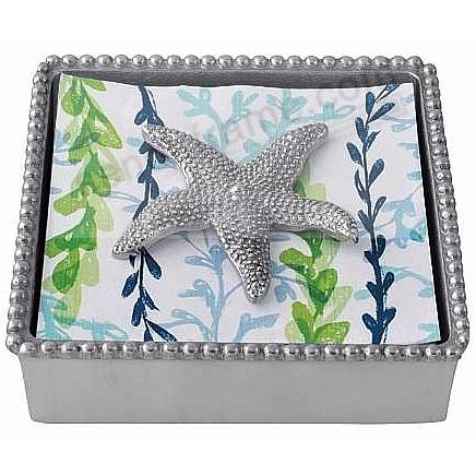 STARFISH BEADED Napkin Box by Mariposa®