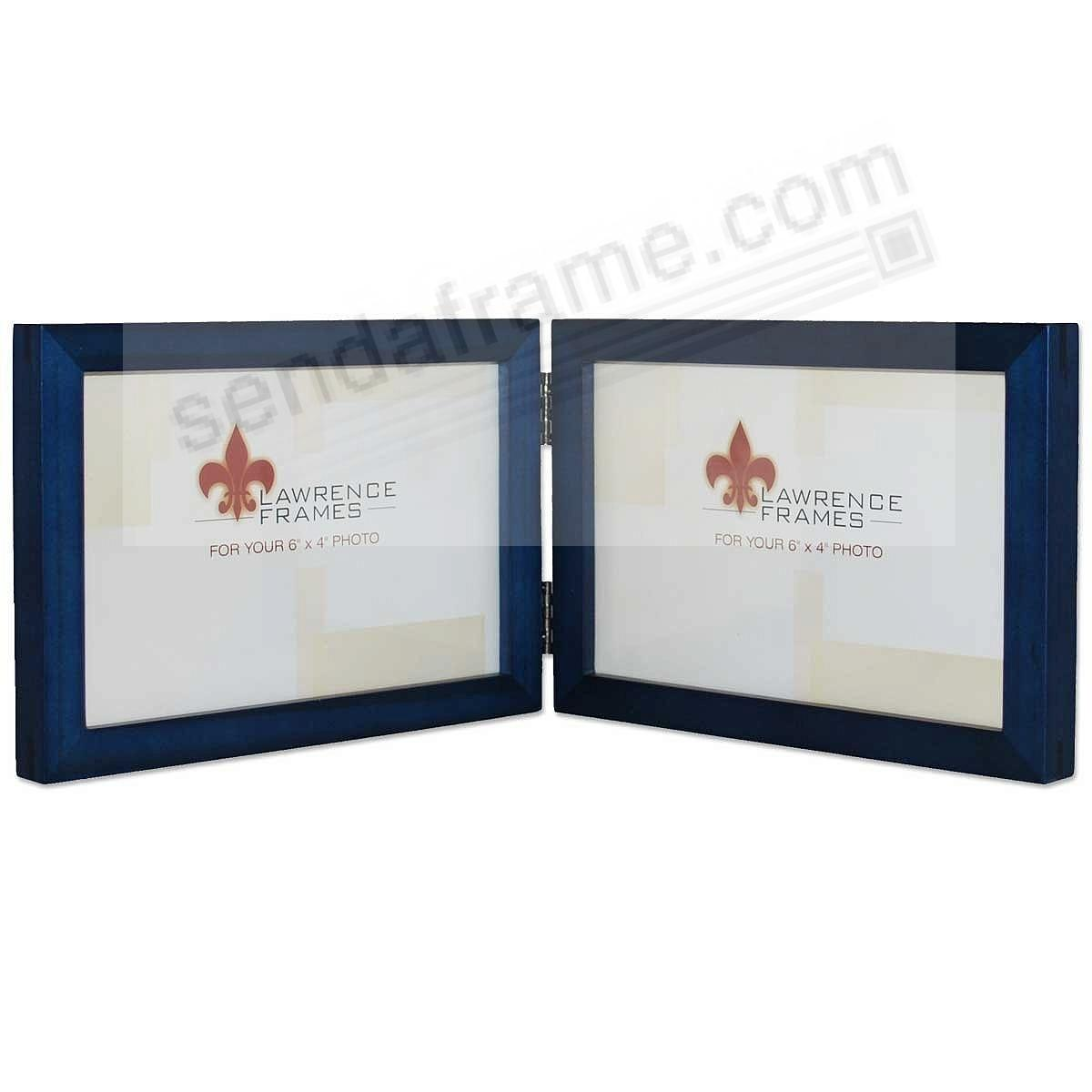SQUARE CORNER classic <u>horizontal</u> blue stained hinged by Lawrence Frames®