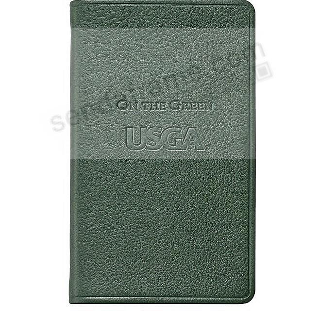 Palm-size ON THE GREEN includes USGA Golf Rules in Traditional-Green leather by Graphic Image™