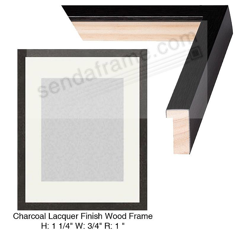 Custom-Cut BASICS™ Charcoal Laquer Finish Wood H: 1¼in W: ¾in R: 1in