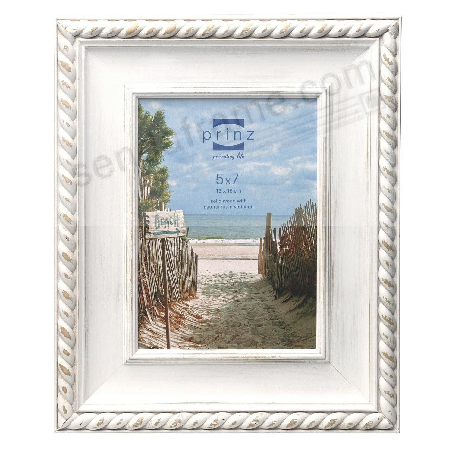 Eastport weathered white wood 5x7 frame with rope detail by prinz eastport weathered white wood 5x7 frame with rope detail by prinz jeuxipadfo Choice Image