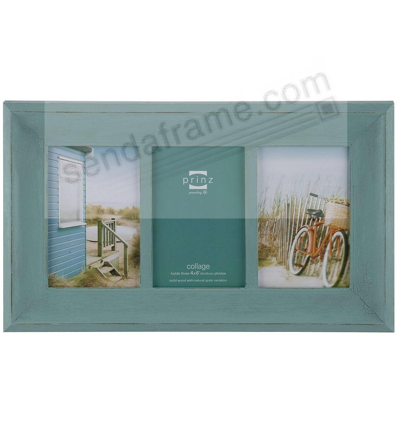 CLEARWATER Aquamarine-stain wood 3/4x6 collage frame by Prinz ...