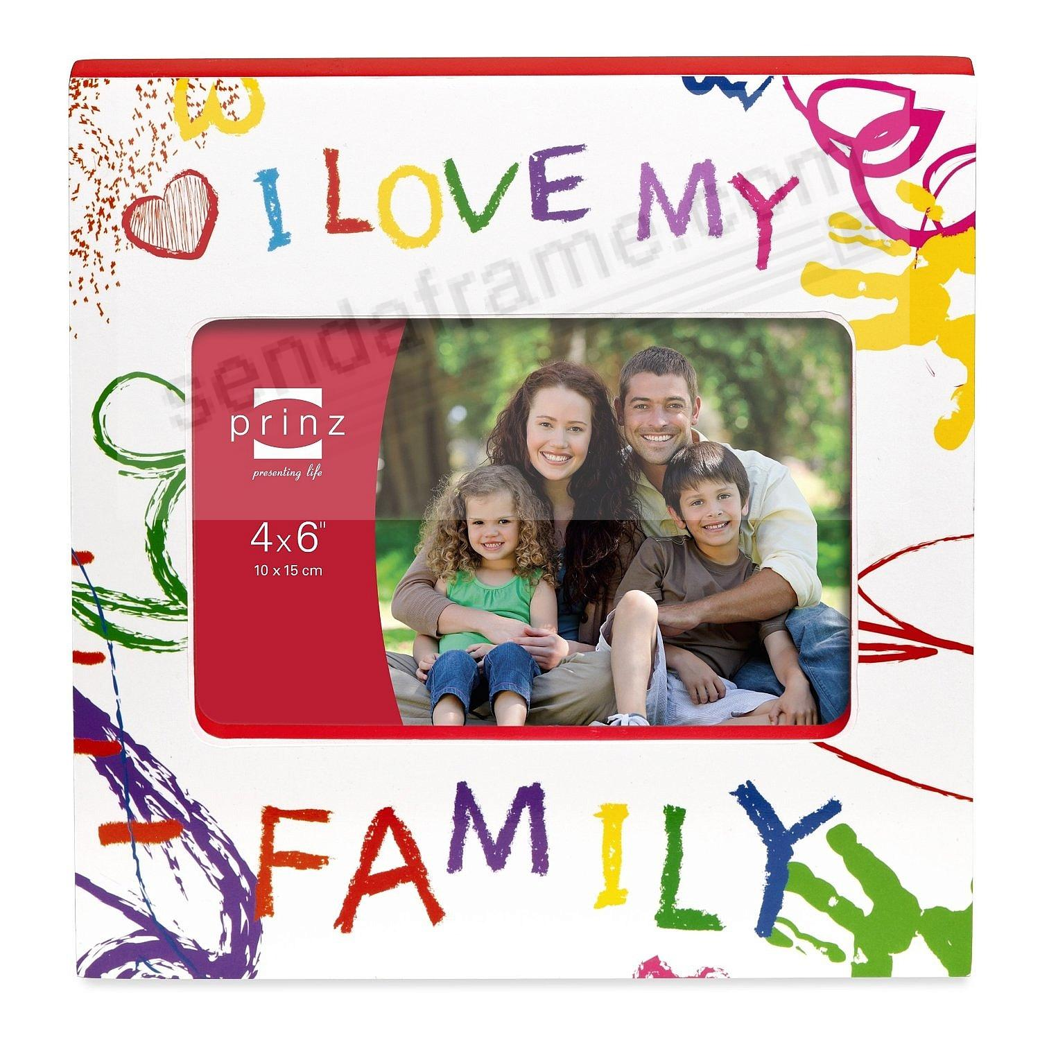 I LOVE MY FAMILY {HEART} 6x4 Wood Frame by Prinz® - Picture Frames ...