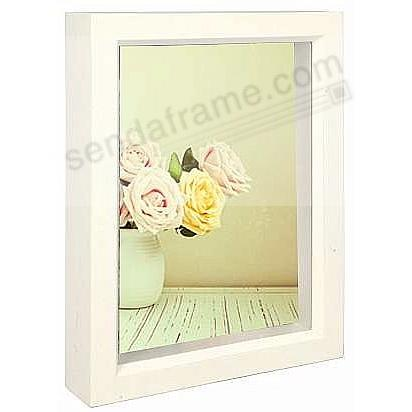 Bright-White stain 2½x3½ shadow box ½in deep for your print or collectibles by Dennis Daniels®