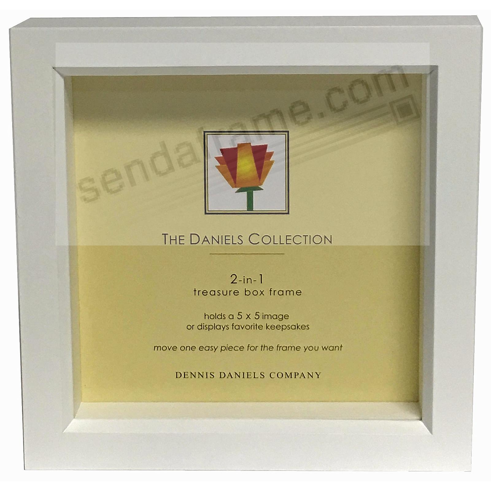 Bright-White stain 5x5 shadow box ½in deep for your print or collectibles by Dennis Daniels®