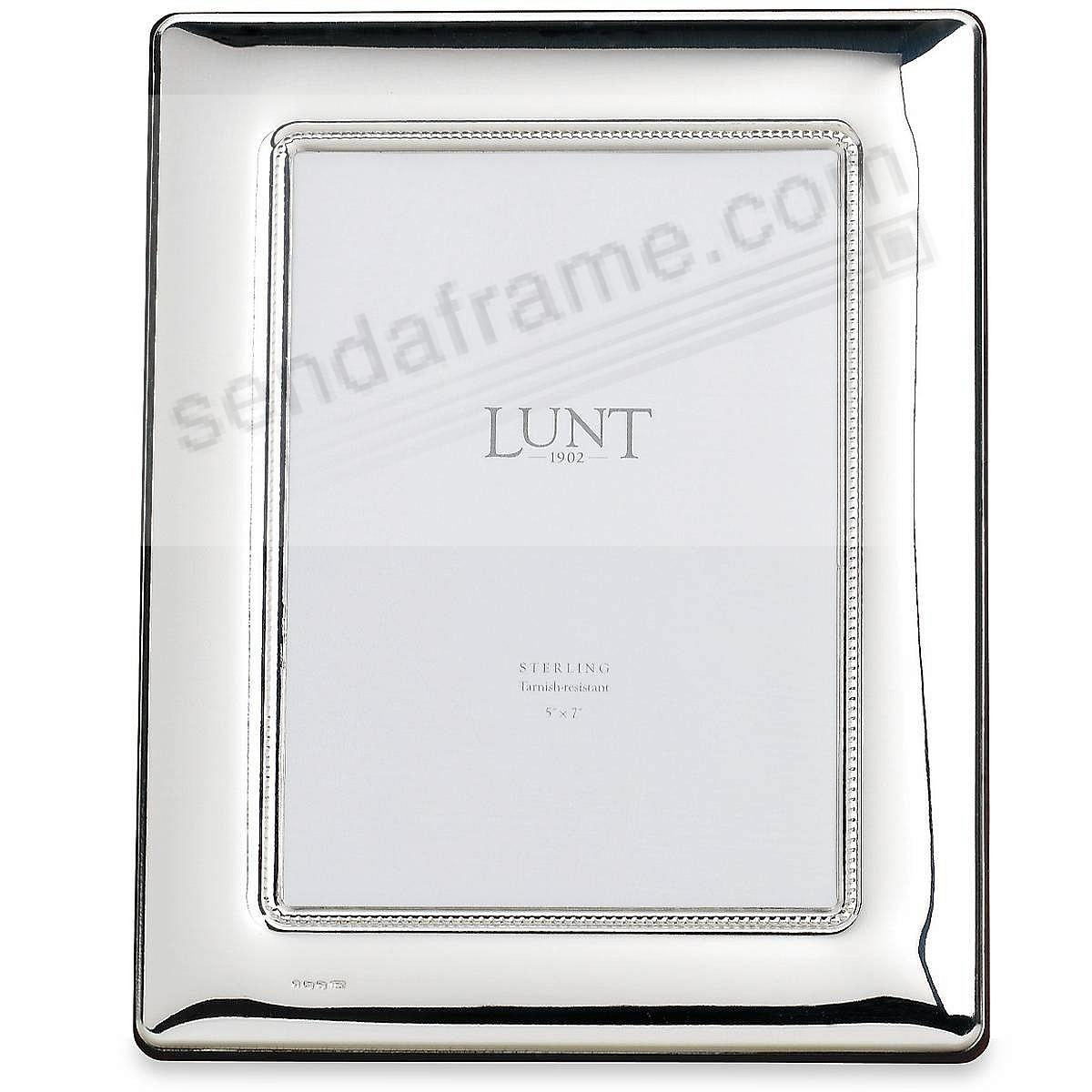 Estate Gallery Fine Sterling Silver 5x7 Frame By Lunt Silversmiths
