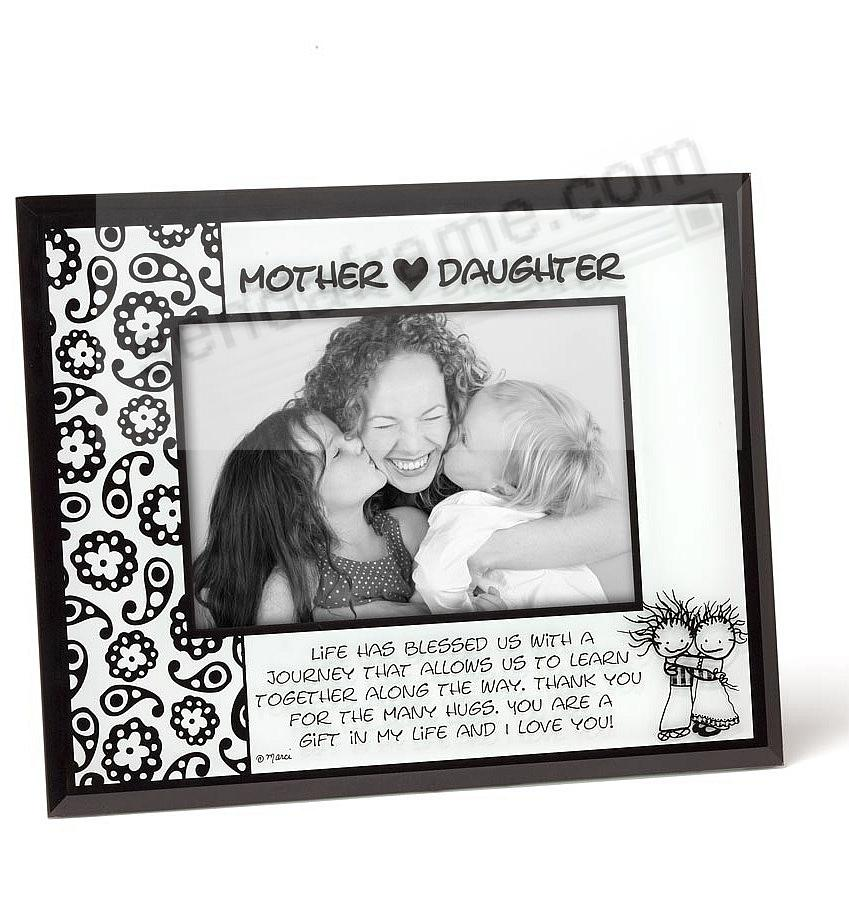 MOTHER {HEART} DAUGHTER glass photo frame - Picture Frames, Photo ...