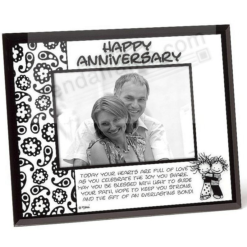 HAPPY ANNIVERSARY glass photo frame - Picture Frames, Photo Albums ...