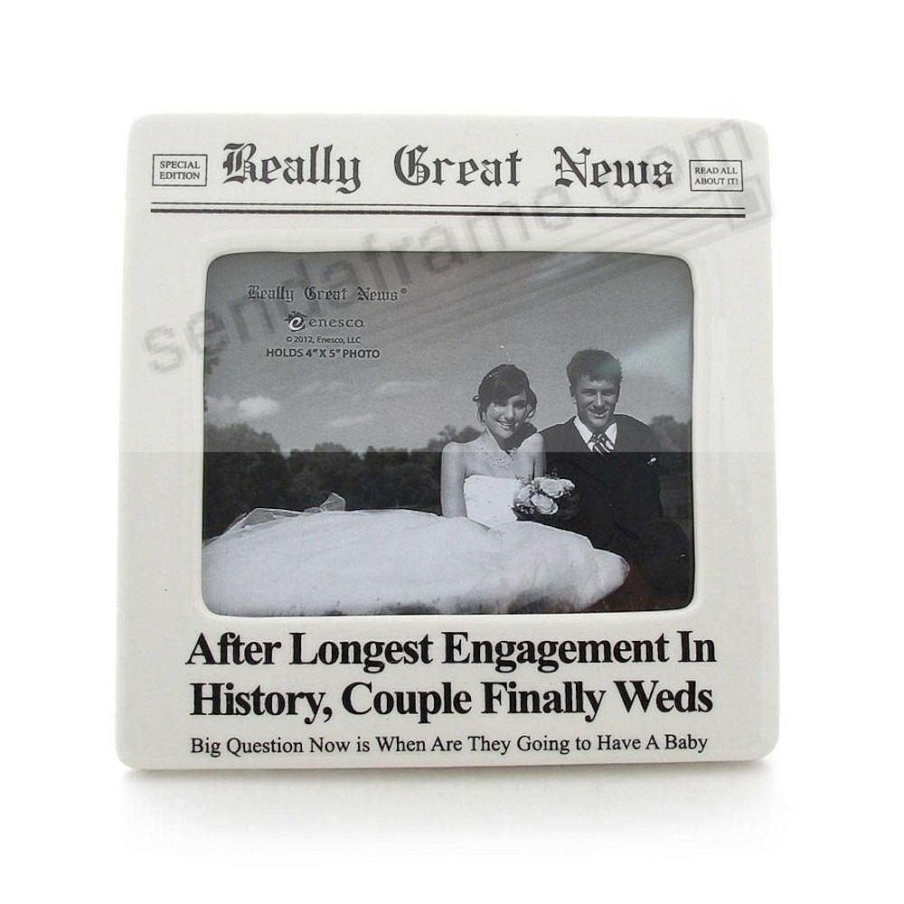 COUPLE FINALLY WEDS frame<br>by Really Great News&reg;