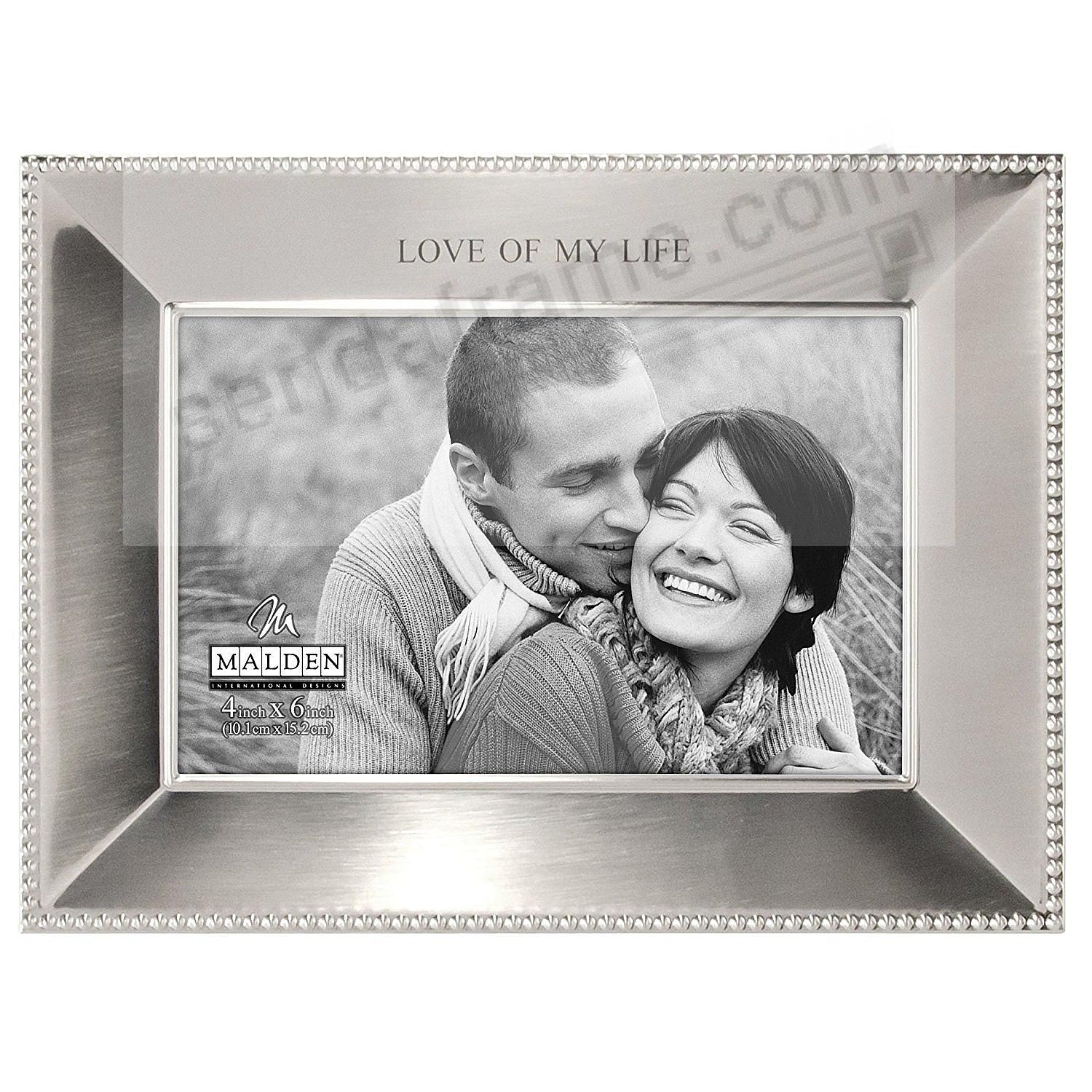 LOVE OF MY LIFE 6x4 silver bead keepsake frame - Picture Frames ...