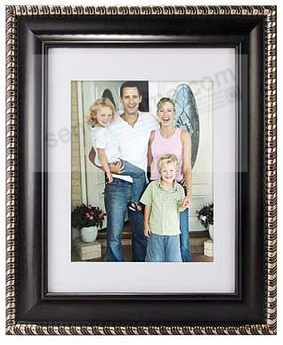 DORSET BLACK w/Silver trim 14x18/10x13 beveled/matted frame by ...