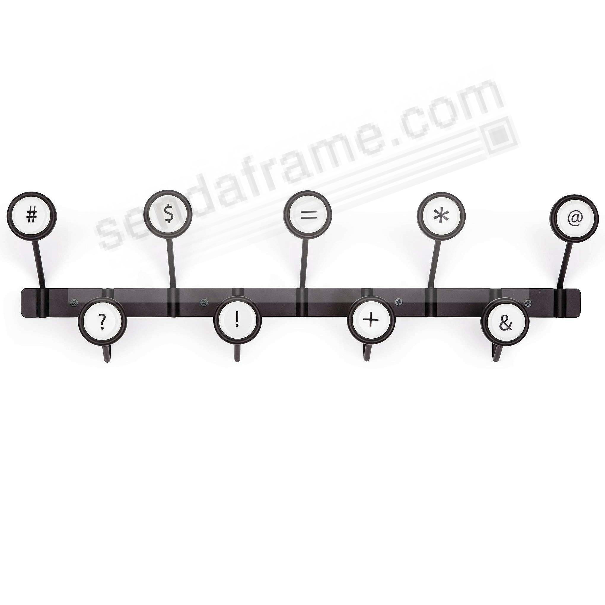 The Original SCRIBE Wall-Mount Rack with 9 Button-Hooks by Umbra®
