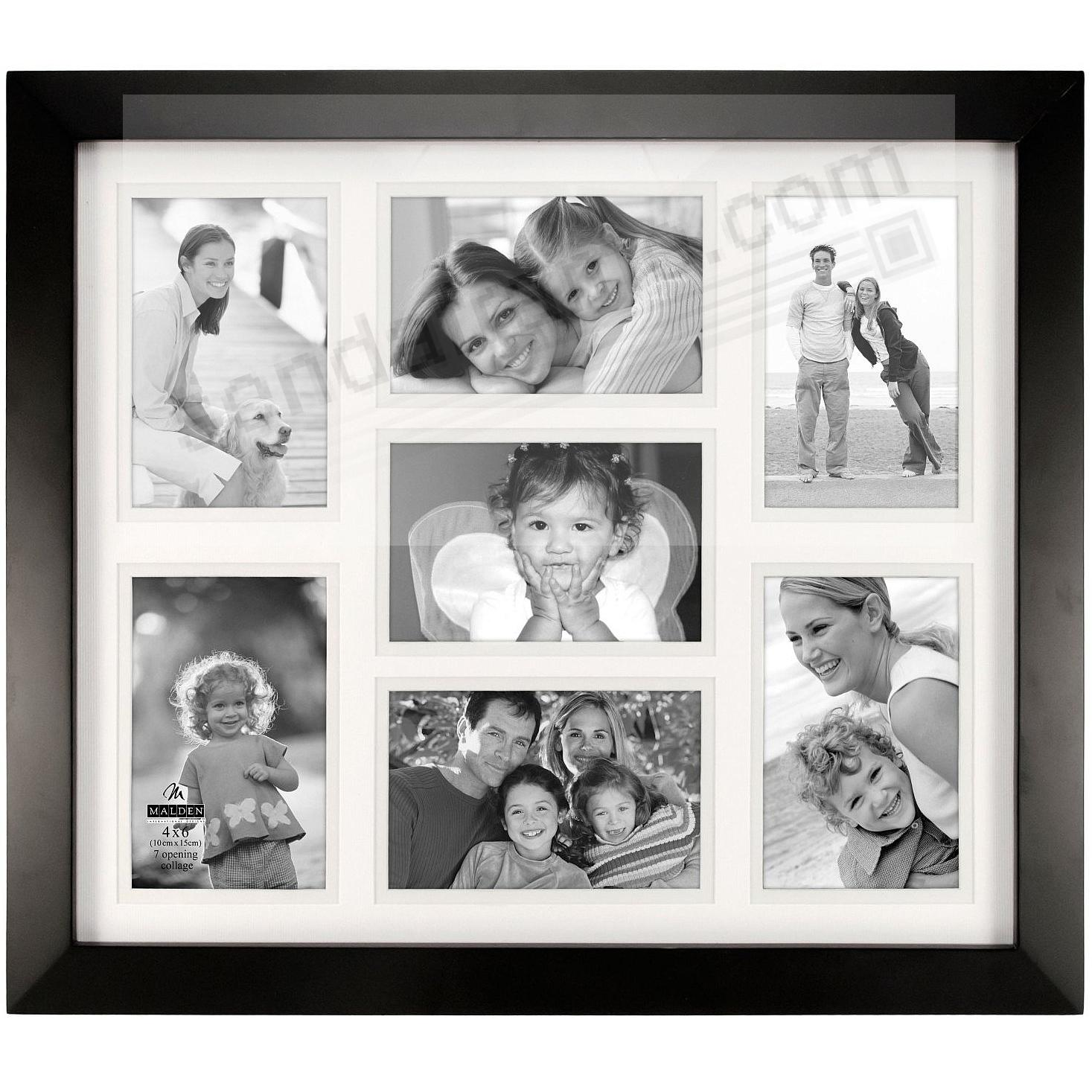 Black Berkeley Matted Collagebrdisplays 7 4x6 Photos By Malden