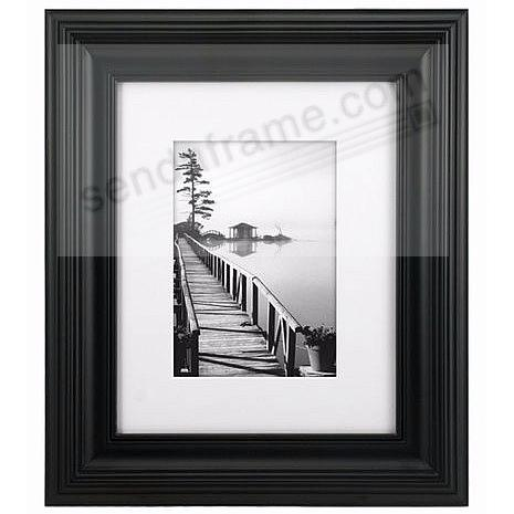 Black PORTRAIT matted 8x10/5x7 stepped frame by Malden Design®