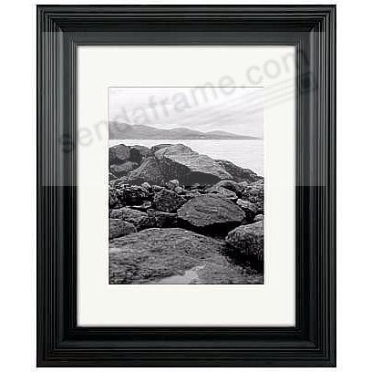 Black PORTRAIT matted 11x14/8x10 stepped frame by Malden Design®