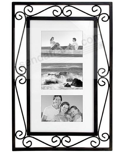 SEVILLE BLACK WIRE matted collage<br>displays (3) 4x6 photos ...