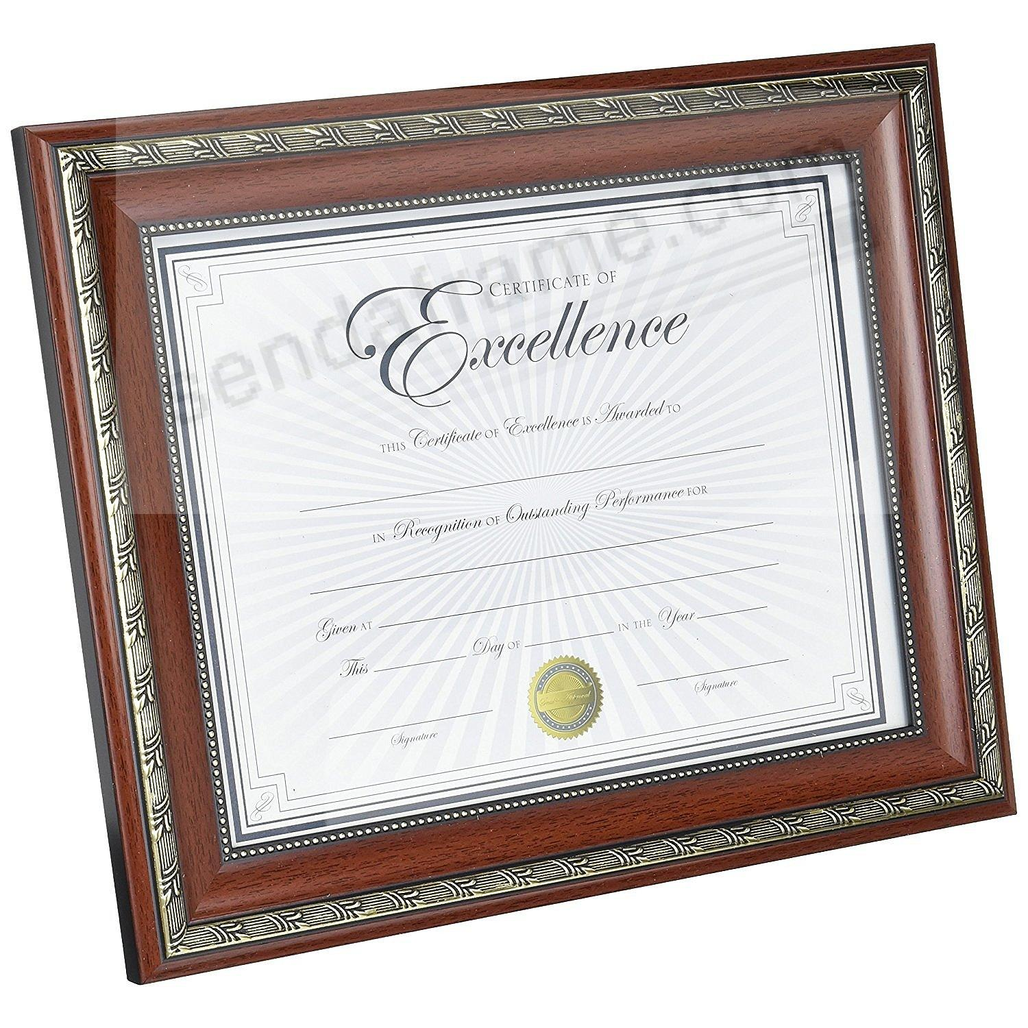 WORLD CLASS Rosewood Frame with Certificate by DAX® - Picture Frames ...