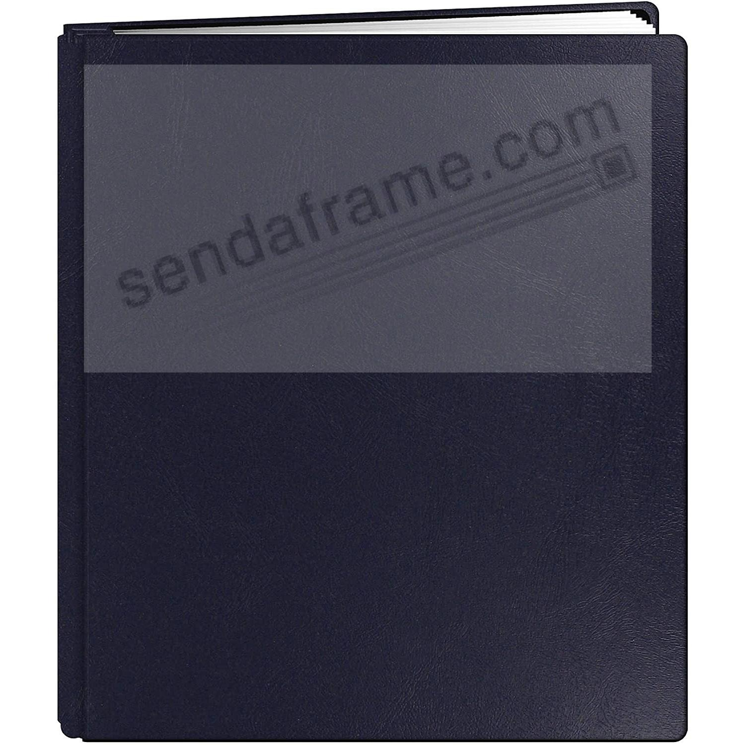 Bonded Leather 8½x11 Navy-Blue MEMORY BOOK by Pioneer® - Huge Capacity!