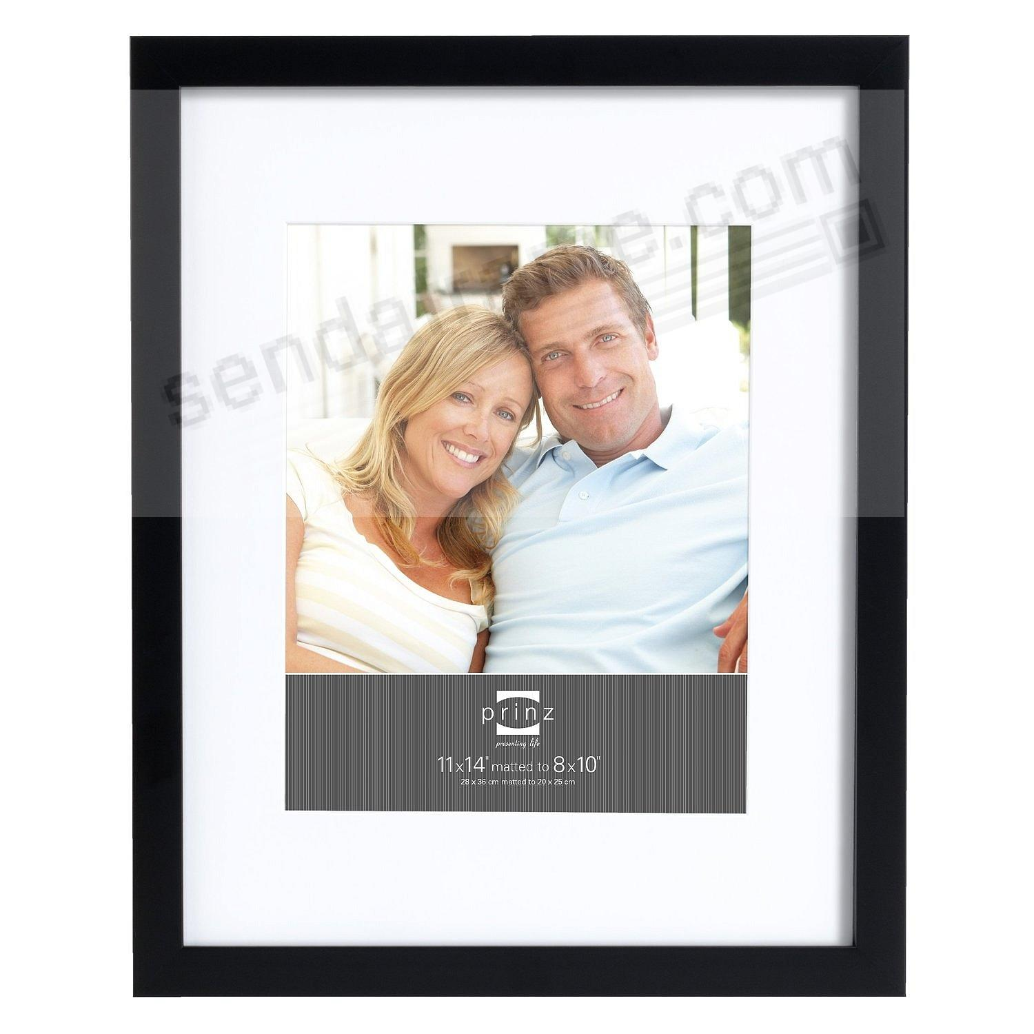 Matted black polystyrene 11x14/8x10 frame by Prinz®