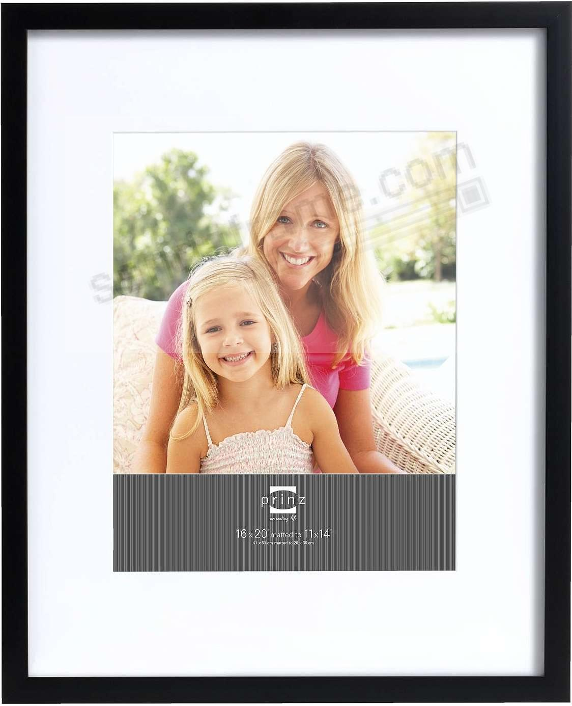 Matted black polystyrene 16x20/11x14 frame by Prinz®