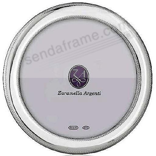 MONTE CARLO Round fine sterling silver beaded frame by Zaramella Argenti®