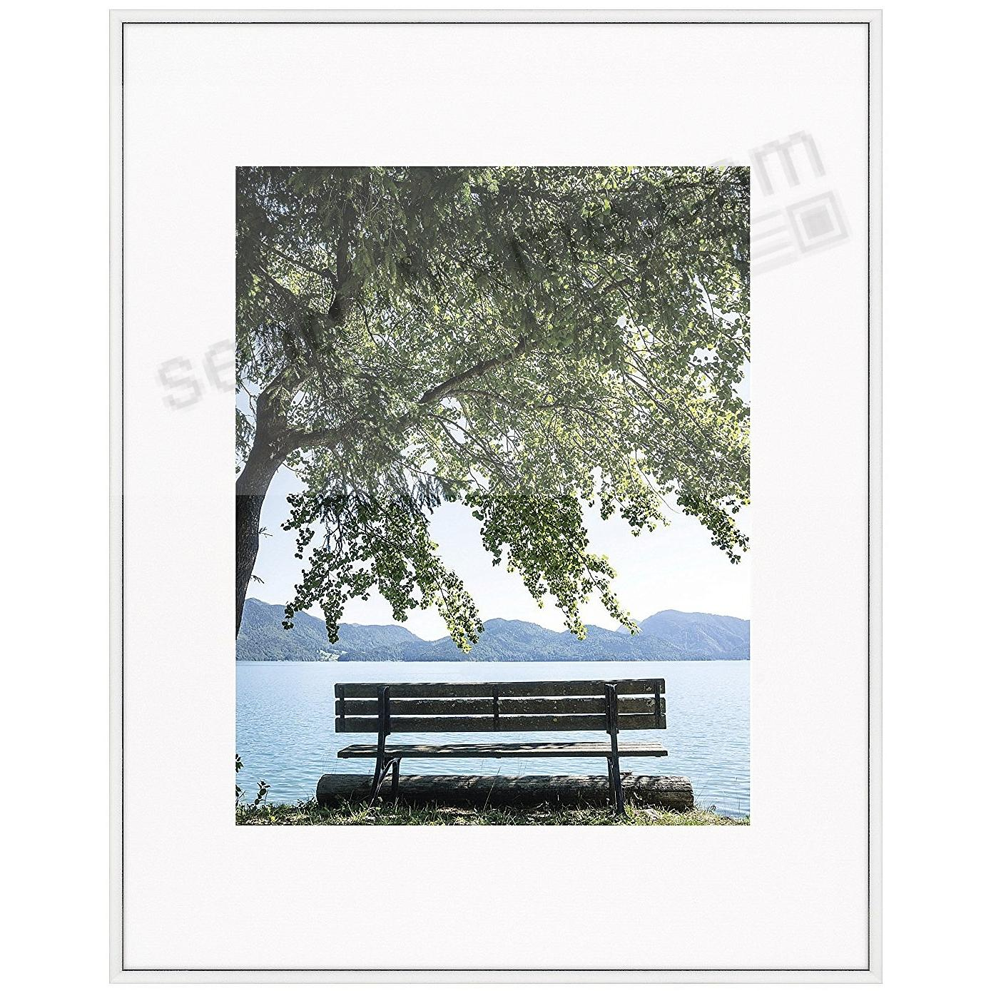 STUDIO SILVER metallic poster frame matted 16x20/11x14 by Nielsen ...