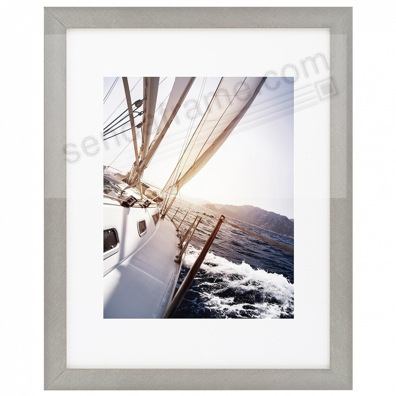 Tuscany Florentine Silver Metallic Frame Matted 11x148x10 By