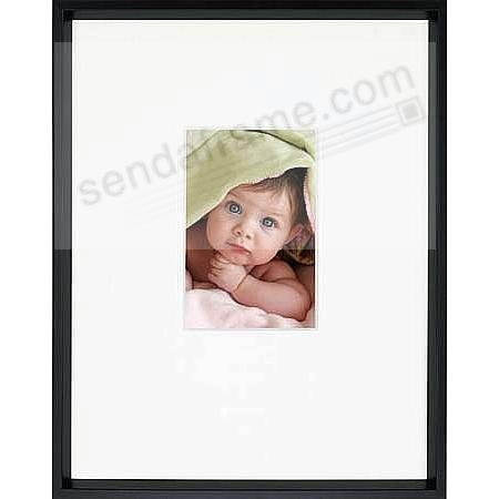 Gallery Matted Matte Black Metallic Frame 11x144x6 From Artcare By
