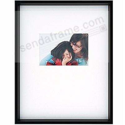 GALLERY matted Matte-Black metallic frame matted 11x14/6x4 from ARTCARE® by Nielsen®