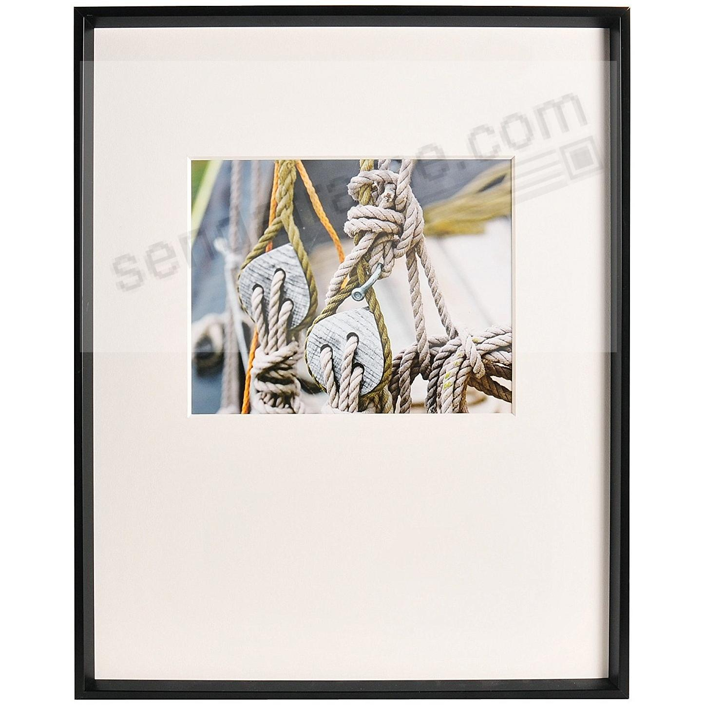 GALLERY matted Matte-Black metallic frame 16x20/10x8 from ARTCARE® by Nielsen®