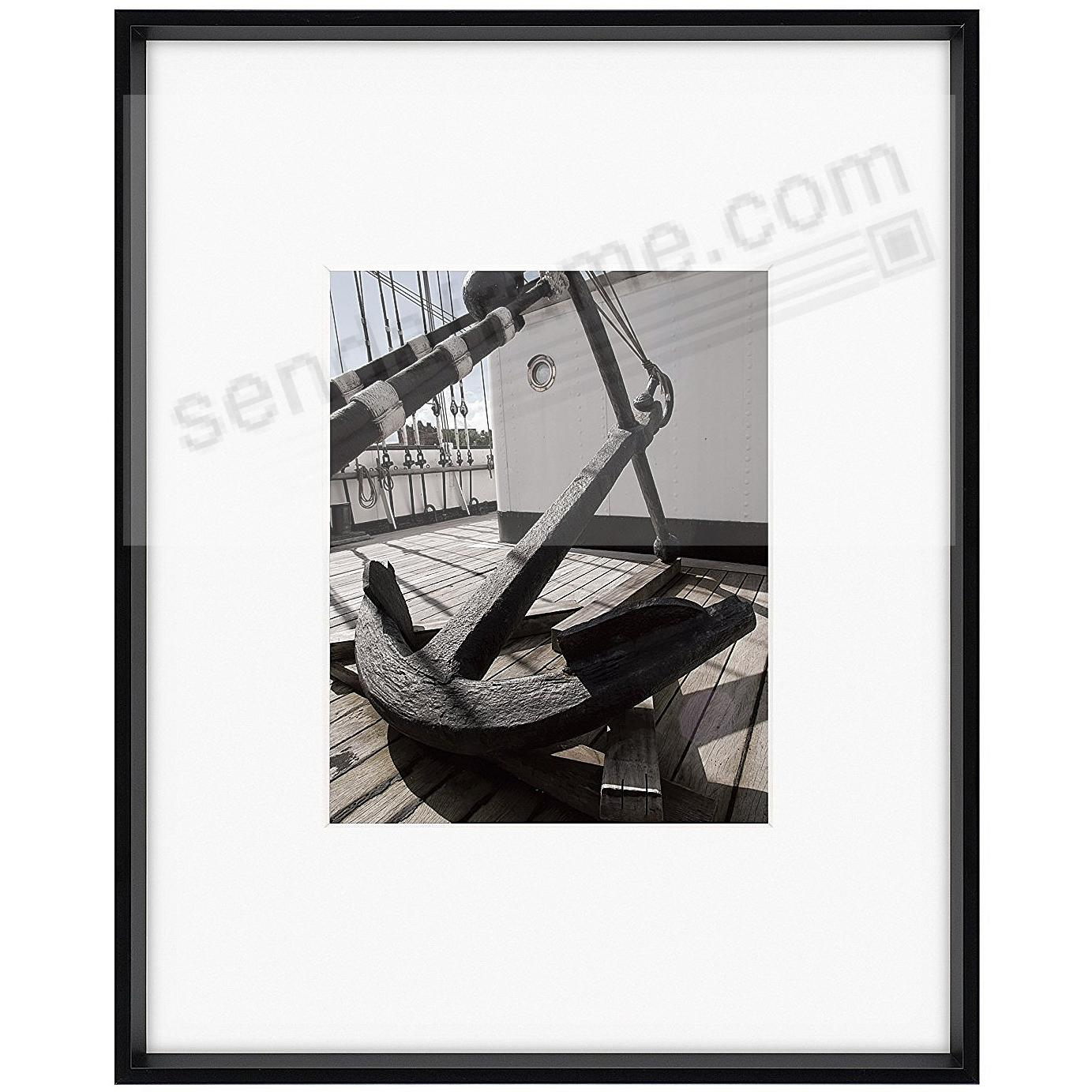 gallery matted matte black metallic frame 16x20 8x10 from artcare