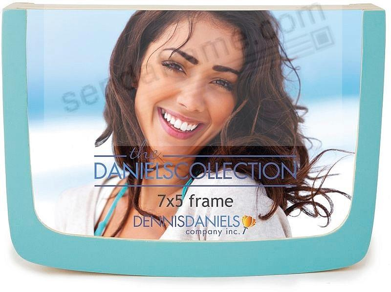 Double-sided glass and POWDER BLUE frame by Dennis Daniels®