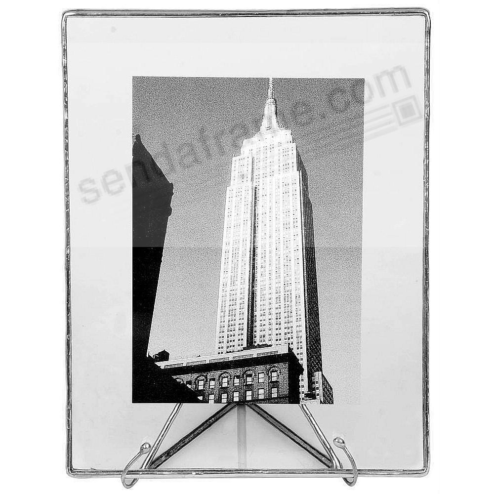 SILVER + CLEAR GLASS Float Frame 5½x7/4x6 by Bedford Downing®
