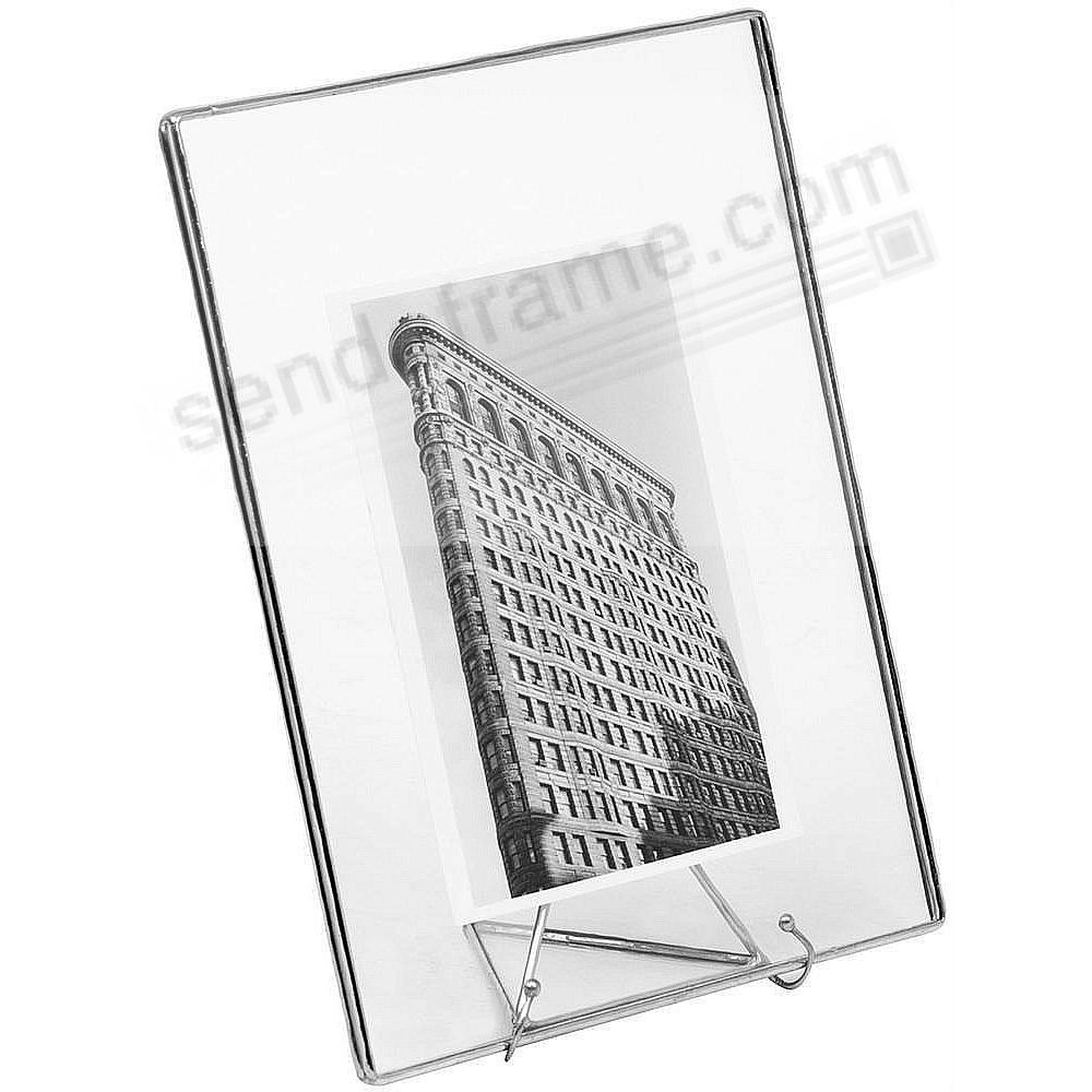 The Original SILVER + CLEAR GLASS Float 7x9/5x7 Frame by Bedford Downing®